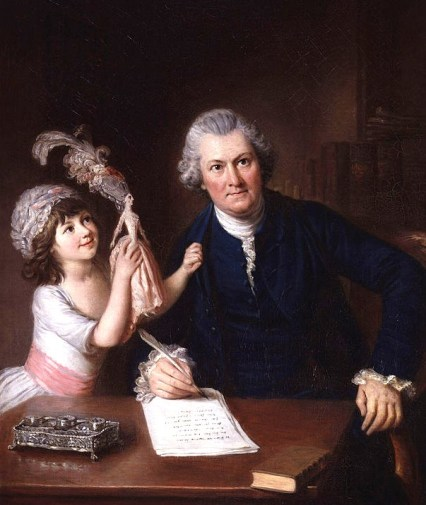 1776 William Hoare (English artist, 1707-1792) Christopher Anstey with his daughter.jpg